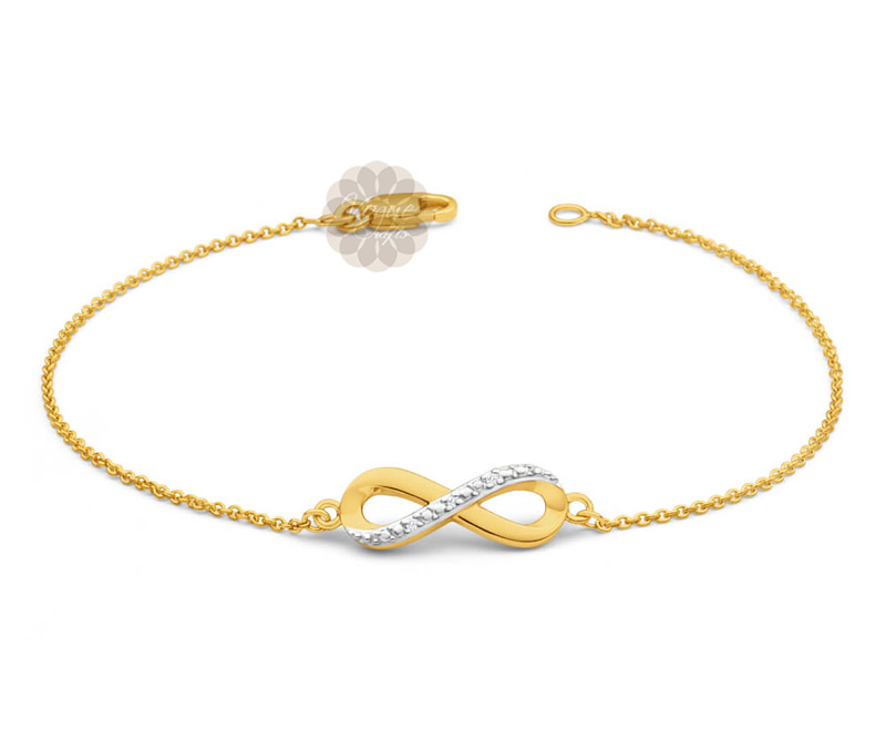 Vogue Crafts & Designs Pvt. Ltd. manufactures Infinity Gold Anklet at wholesale price.