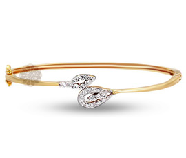 Vogue Crafts and Designs Pvt. Ltd. manufactures Diamond Leaf Bangle at wholesale price.