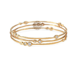 Gold Bangle Stack
