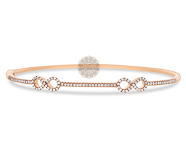 Vogue Crafts and Designs Pvt. Ltd. manufactures Rose Gold Infinity Bangle at wholesale price.