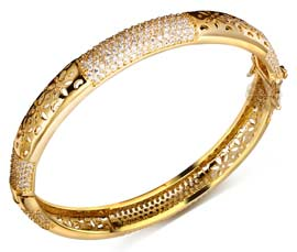 Vogue Crafts and Designs Pvt. Ltd. manufactures Bridal Gold Bangle at wholesale price.