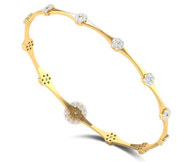 Vogue Crafts and Designs Pvt. Ltd. manufactures Classic Floral Bangle at wholesale price.