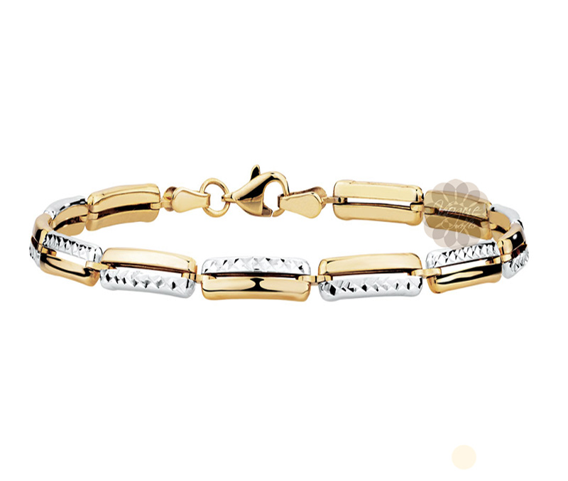 Vogue Crafts & Designs Pvt. Ltd. manufactures Fancy Two Tone  Gold Bracelet at wholesale price.