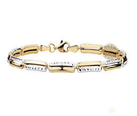 Fancy Two Tone  Gold Bracelet