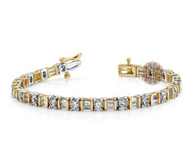 Vogue Crafts and Designs Pvt. Ltd. manufactures Two Tone Gold Bracelet at wholesale price.