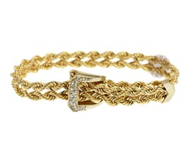 Vogue Crafts and Designs Pvt. Ltd. manufactures Diamond Buckle Bracelet at wholesale price.