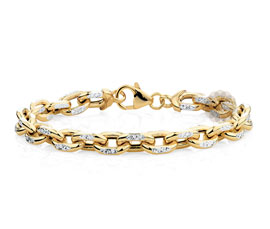 Vogue Crafts and Designs Pvt. Ltd. manufactures Diamond and Gold Chain Bracelet at wholesale price.
