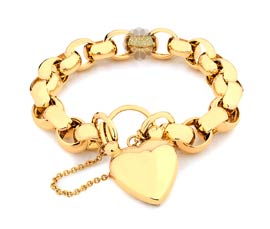 Vogue Crafts and Designs Pvt. Ltd. manufactures Belcher Heart Gold Bracelet at wholesale price.