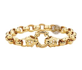 Vogue Crafts and Designs Pvt. Ltd. manufactures Gold Belcher Bracelet at wholesale price.