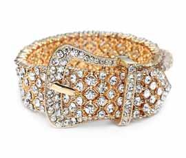 Vogue Crafts and Designs Pvt. Ltd. manufactures Buckle Belt Gold Bracelet at wholesale price.