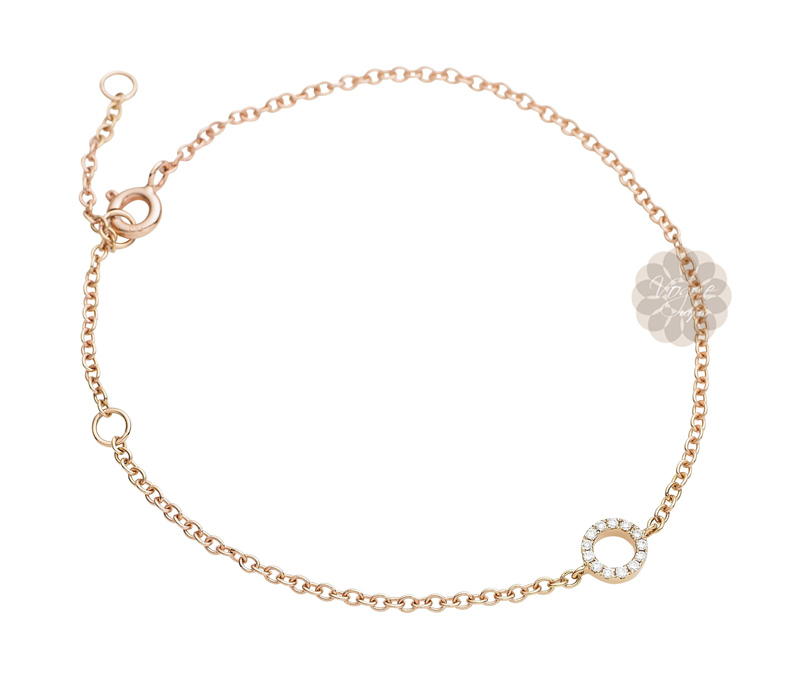 Vogue Crafts & Designs Pvt. Ltd. manufactures Rose Gold and Diamond Bracelet at wholesale price.