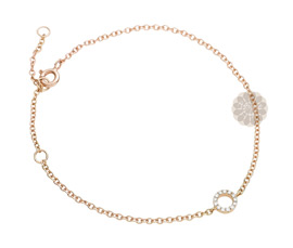 Vogue Crafts and Designs Pvt. Ltd. manufactures Rose Gold and Diamond Bracelet at wholesale price.