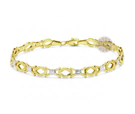 Vogue Crafts and Designs Pvt. Ltd. manufactures Gold Chain Bracelet at wholesale price.