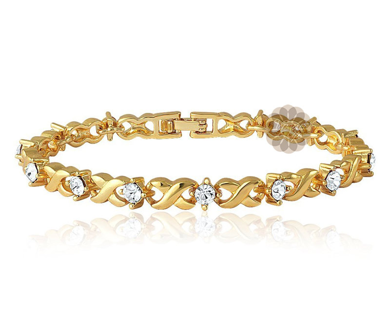 Vogue Crafts & Designs Pvt. Ltd. manufactures Infinity Diamond and Gold Bracelet at wholesale price.