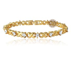 Vogue Crafts and Designs Pvt. Ltd. manufactures Infinity Diamond and Gold Bracelet at wholesale price.