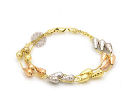 Vogue Crafts and Designs Pvt. Ltd. manufactures Layered Gold Bracelet at wholesale price.