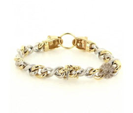 Vogue Crafts and Designs Pvt. Ltd. manufactures Infinity Gold Bracelet at wholesale price.