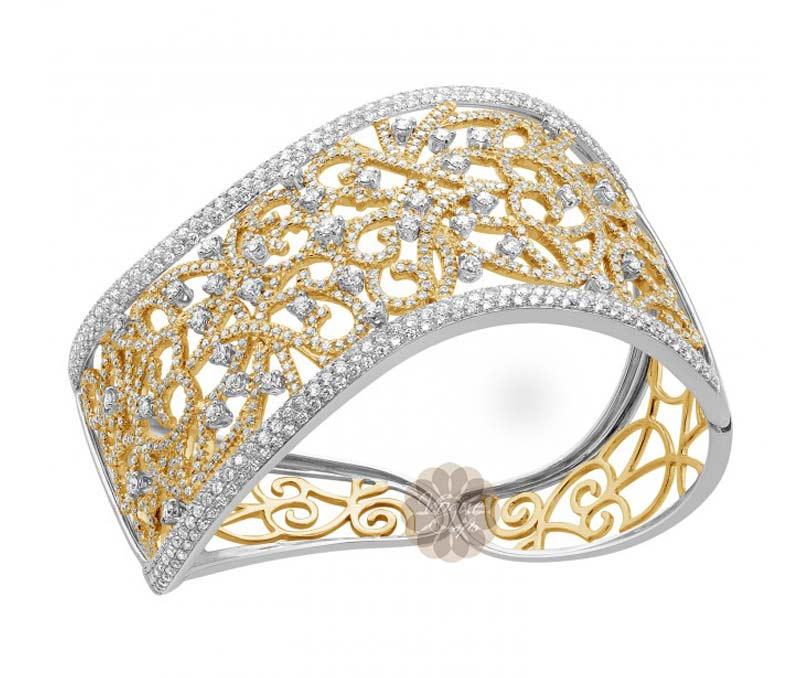 Vogue Crafts & Designs Pvt. Ltd. manufactures Antique Diamond and Gold Cuff at wholesale price.