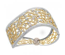 Antique Diamond and Gold Cuff