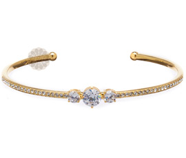 Diamond Studded Gold Cuff
