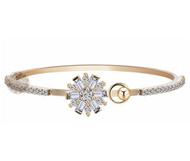 Universal Gift Diamond and Gold Cuff
