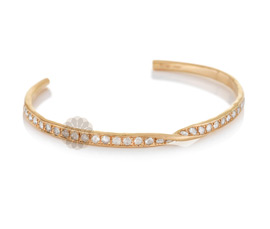 Vogue Crafts and Designs Pvt. Ltd. manufactures Twist Gold Cuff at wholesale price.
