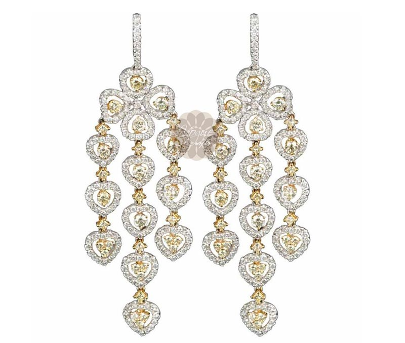Vogue Crafts & Designs Pvt. Ltd. manufactures Diamond Chandelier Earrings at wholesale price.