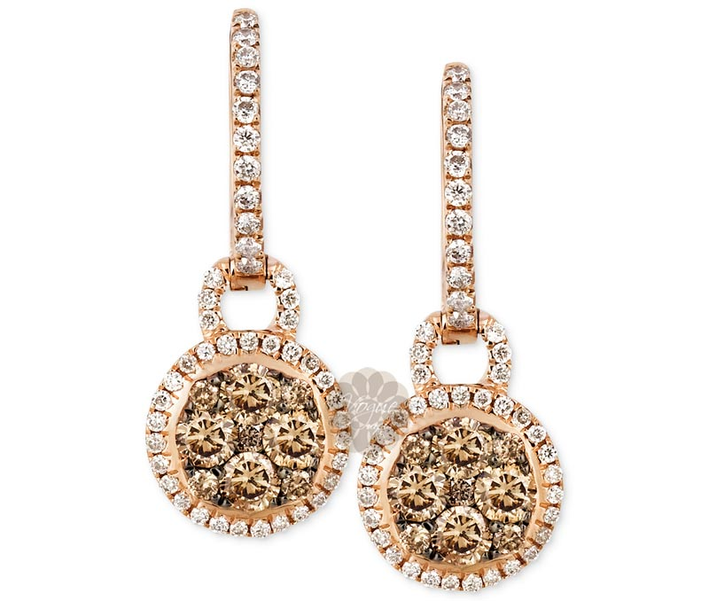 Vogue Crafts & Designs Pvt. Ltd. manufactures Classy Gold and Diamond Earrings at wholesale price.