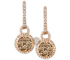 Classy Gold and Diamond Earrings