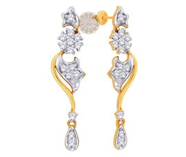 Designer Floral Gold Earrings