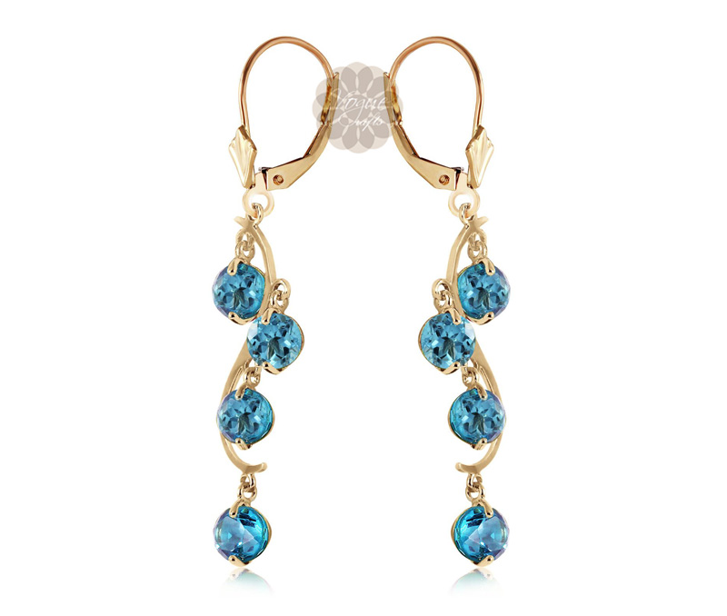 Vogue Crafts & Designs Pvt. Ltd. manufactures Blue Stone Gold Earrings at wholesale price.