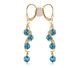 Blue Stone Gold Earrings