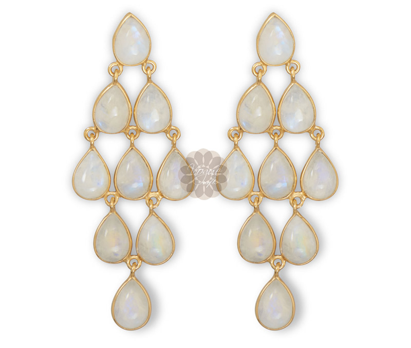 Vogue Crafts & Designs Pvt. Ltd. manufactures Gold Chandelier Earrings at wholesale price.