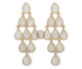 Vogue Crafts and Designs Pvt. Ltd. manufactures Gold Chandelier Earrings at wholesale price.
