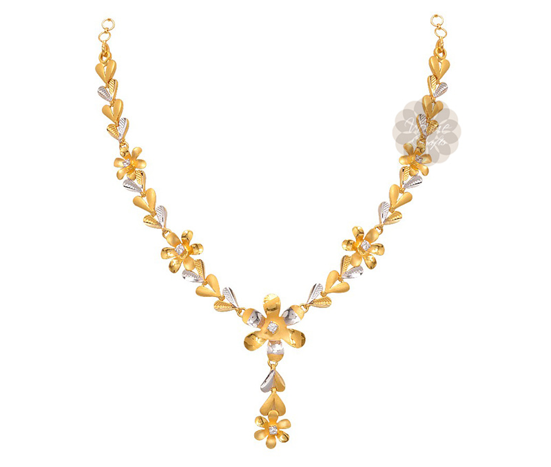 Vogue Crafts & Designs Pvt. Ltd. manufactures Two Tone Gold Necklace at wholesale price.