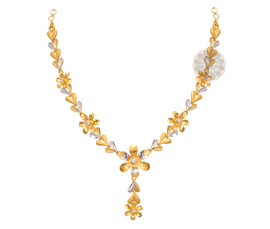 Vogue Crafts and Designs Pvt. Ltd. manufactures Two Tone Gold Necklace at wholesale price.