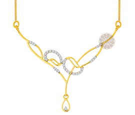Fancy Diamond and Gold Necklace