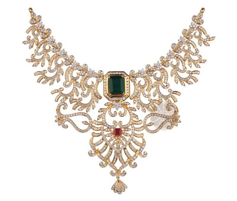 Vogue Crafts & Designs Pvt. Ltd. manufactures Traditional Diamond Necklace at wholesale price.