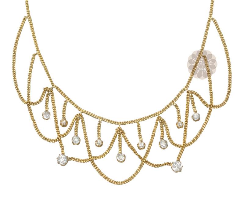Vogue Crafts & Designs Pvt. Ltd. manufactures Designer Gold Necklace at wholesale price.