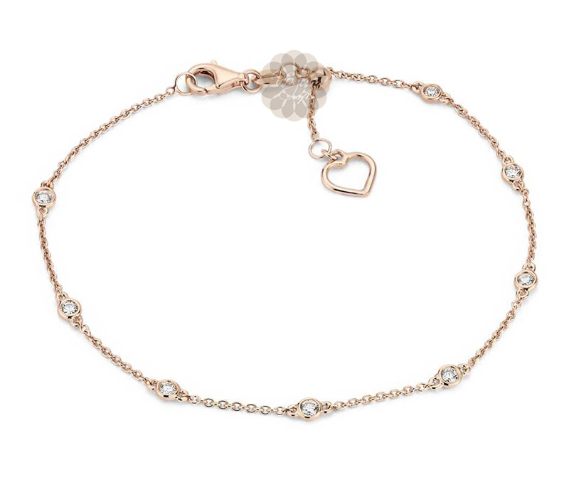 Vogue Crafts & Designs Pvt. Ltd. manufactures Rose Gold and Diamond Anklet at wholesale price.