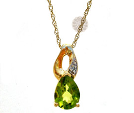 Gold and Diamond Drop Pendant
