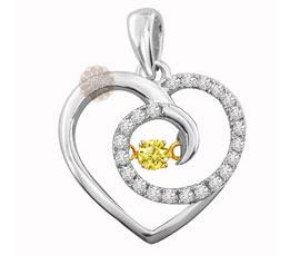 Designer Gold Heart Pendant