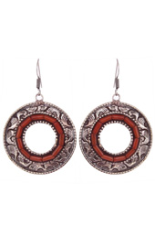 Vogue Crafts and Designs Pvt. Ltd. manufactures Circle of Coral Earrings at wholesale price.