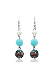 Floral Blue Earrings