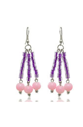 Purple and Pink Earrings