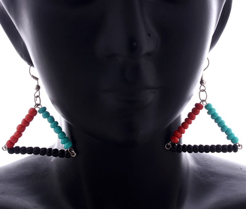 Vogue Crafts & Designs Pvt. Ltd. manufactures Color Blocked Triangle Earrings at wholesale price.