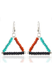 Color Blocked Triangle Earrings