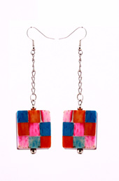 Vogue Crafts and Designs Pvt. Ltd. manufactures Colorful Square Earrings at wholesale price.