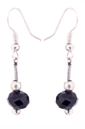 Vogue Crafts and Designs Pvt. Ltd. manufactures The Little Black Drop Earrings at wholesale price.