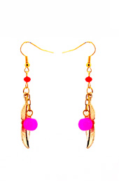 Vogue Crafts and Designs Pvt. Ltd. manufactures The Feather Charm Earrings at wholesale price.